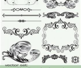 Old Calligraphic design elements vector set 02