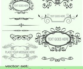 Old Calligraphic design elements vector set 03
