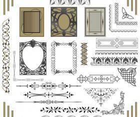 Old Calligraphic design elements vector set 05