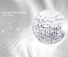 Set of Disco Ball theme background vector 01