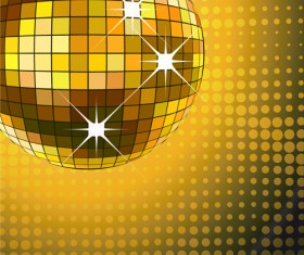 Set of Disco Ball theme background vector 04