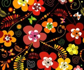 Set of Flower Pattern vector art 01