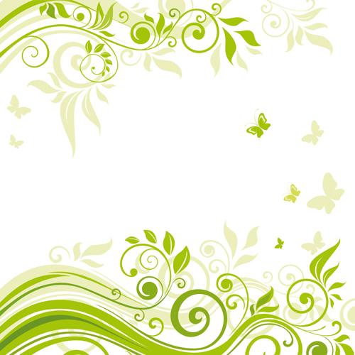 elements of floral backgrounds vector illustration 02 - Floral Backgrounds