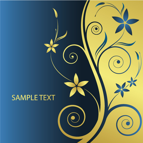 Elements Of Floral Backgrounds Vector Illustration 06 Free