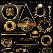 Link toLuxurious golden frames and labels design vector 01