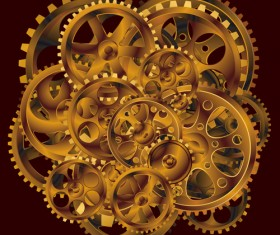 Set of Gears assemble vector backgrounds 02