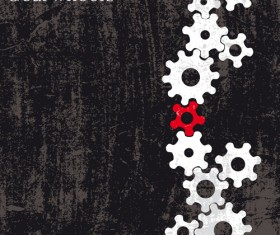 Set of Gears assemble vector backgrounds 03