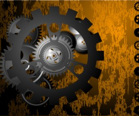 Set of Gears assemble vector backgrounds 04