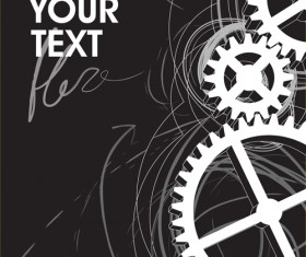 Set of Gears assemble vector backgrounds 05