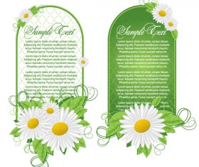 Green floral frame vector set 02