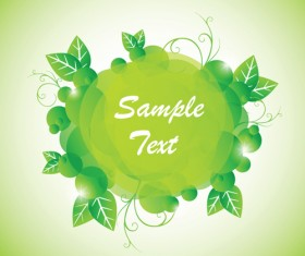 Green floral frame vector set 05