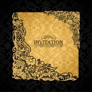 Link toElements of luxury invitation background vector 01
