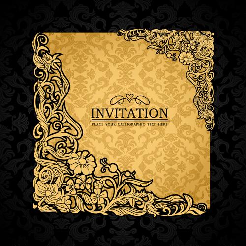 Elements of Luxury invitation background vector 01 Vector – Free Invitation Backgrounds