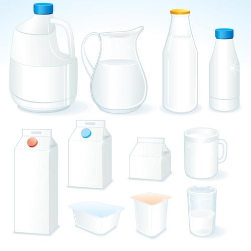 Milk Advertising theme design elements vector 01