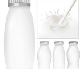 Milk Advertising theme design elements vector 02