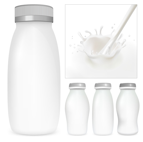 Milk Advertising theme design elements vector 02