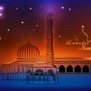 Link toElements of mosque backgrounds vector graphic 01