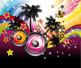 Set of musical event flyer cover vector 05