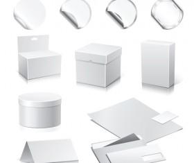 Set of Paper Packaging Box design vector 02