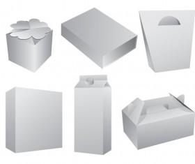 Set of Paper Packaging Box design vector 05