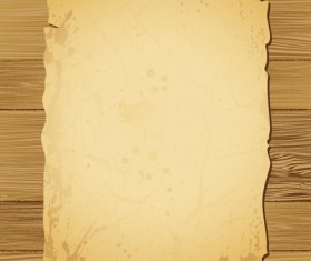 Old Paper on the wood vector set 01