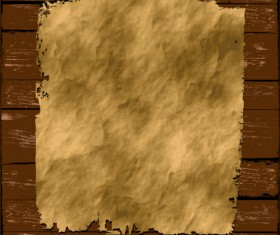 Old Paper on the wood vector set 04