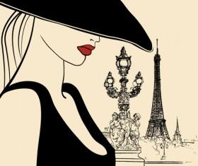 Stylish Paris elements vector set 02