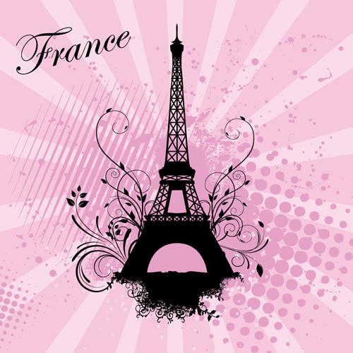 pink paris themed wallpaper