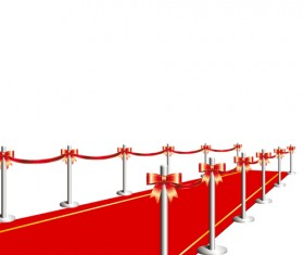 Noble Red Carpet vector set 04