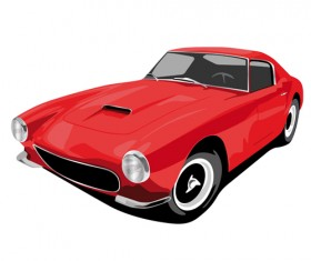 Various color of Retro cars vector 04