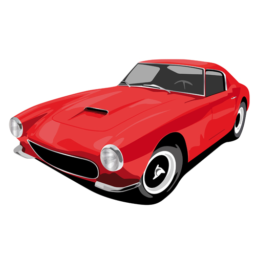 Various color of Retro cars vector 04 - Vector Car free download