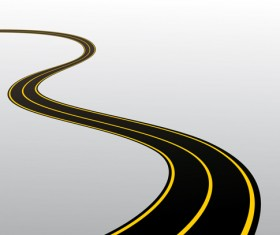 Different Winding road design vector 01