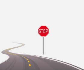 Different Winding road design vector 03
