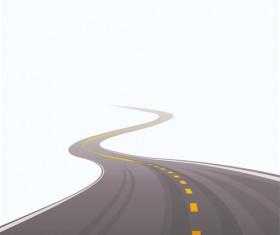 Different Winding road design vector 04