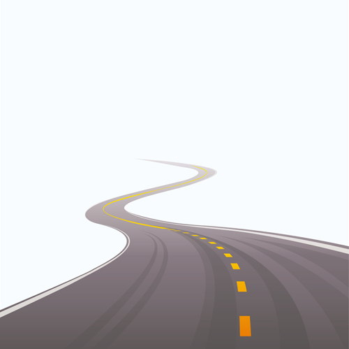 Different Winding road design vector 04