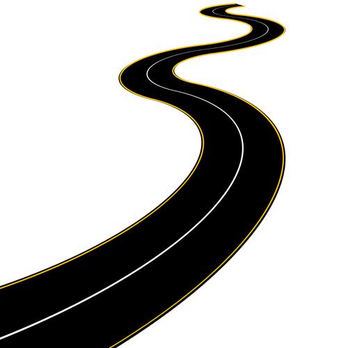 Different Winding road design vector 05