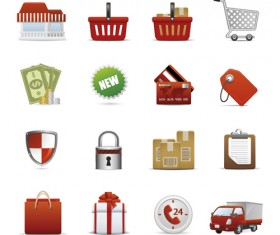 Different Shopping icon mix vector graphic 01