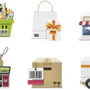 Link toDifferent shopping icon mix vector graphic 02