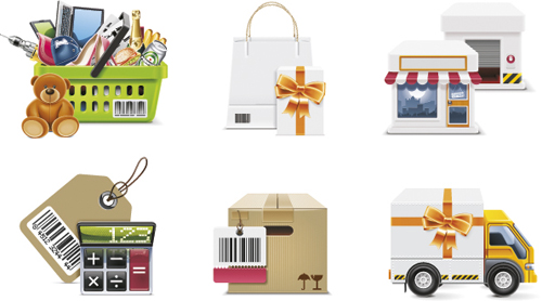 Different Shopping icon mix vector graphic 02