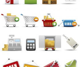 Different Shopping icon mix vector graphic 03