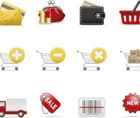 Different Shopping icon mix vector graphic 04