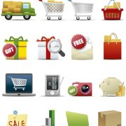 Link toDifferent shopping icon mix vector graphic 05