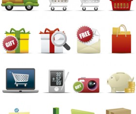 Different Shopping icon mix vector graphic 05