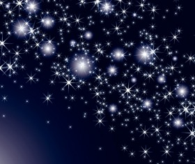 Shiny Sky with Stars design vector background 02