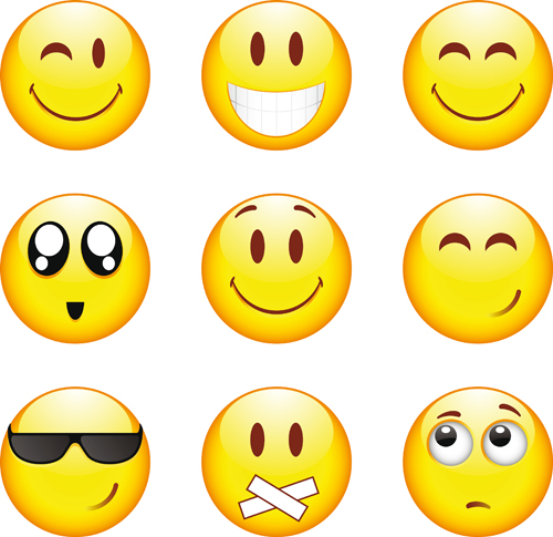 Funny Smile Emoticons vector icon 01 - Emoticons Icons, Vector Icons ...