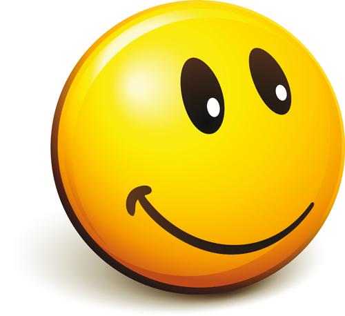 Funny Smile Emoticons vector icon 02
