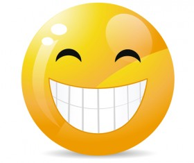 Funny Smile Emoticons vector icon 03