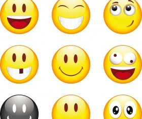 Funny Smile Emoticons vector icon 04