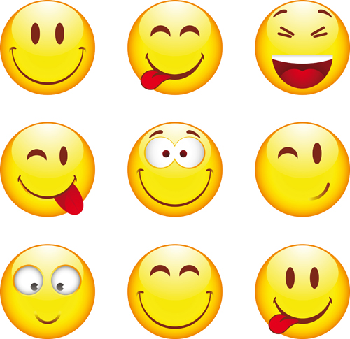 Funny Smile Emoticons vector icon 05 - Emoticons Icons, Vector Icons ...: freedesignfile.com/19006-funny-smile-emoticons-vector-icon-05