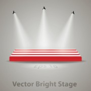 Link toStage with spotlight effect design vector material 01